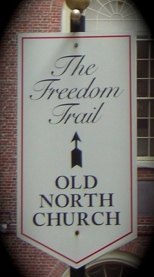 You can visit Old North Church along the Freedom Trail in Boston.