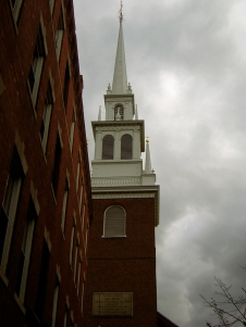"""Then he climbed the tower of the Old North Church…"""